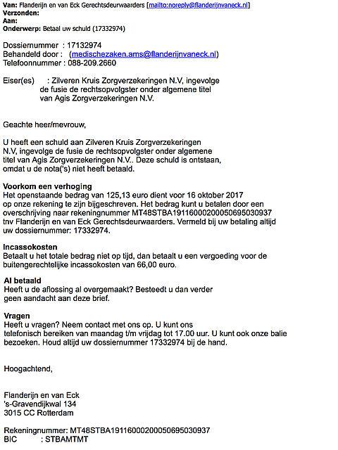 Valse e-mail Flanderijn: 'Betaal uw schuld'