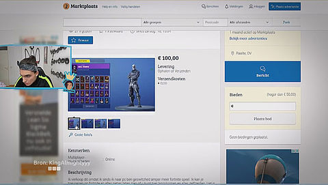 Cybertip: koop geen valse game-accounts