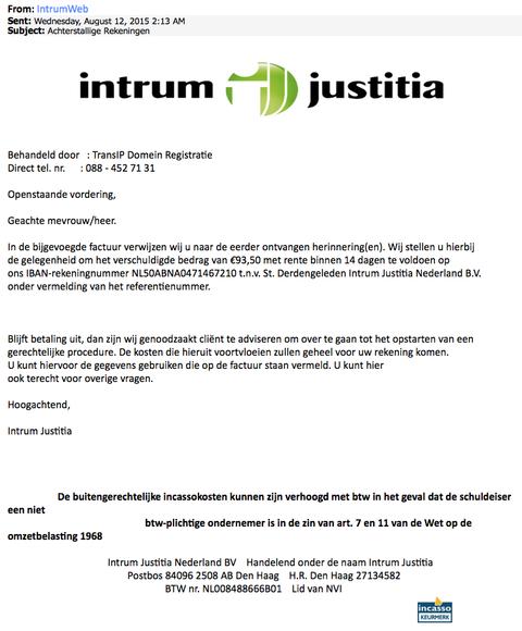 Intrum Justitia nog steeds populair onder fraudeurs
