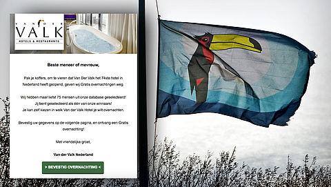 Mail over hotelovernachting bij 'Van der Valk' is een valse winactie