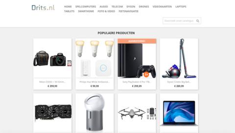 Ook Drits.nl is een malafide webshop