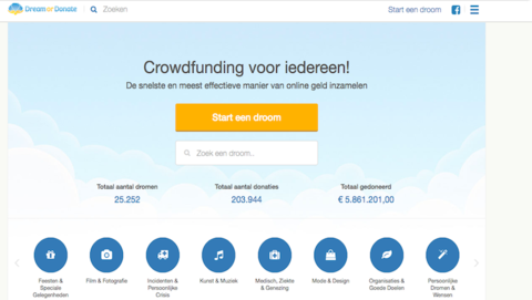 Onrust om plotselinge verdwijning crowdfundingwebsite Dream or Donate