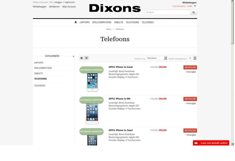 Doe geen aankopen bij dixons-shop.com!