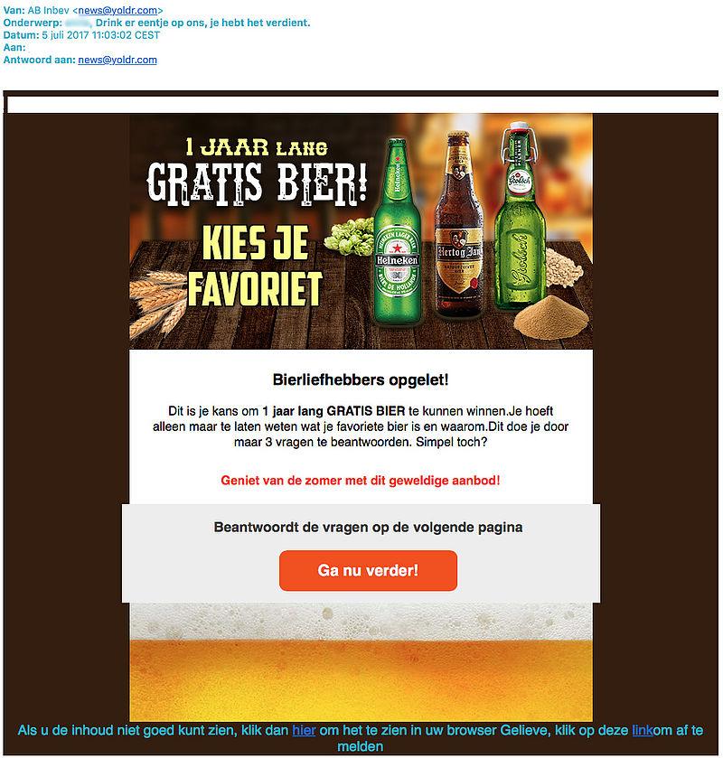 Een jaar lang gratis bier? Lees de kleine lettertjes goed!