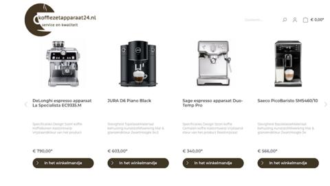 Politie waarschuwt voor onbetrouwbare webshop Koffiezetapparaat24.nl