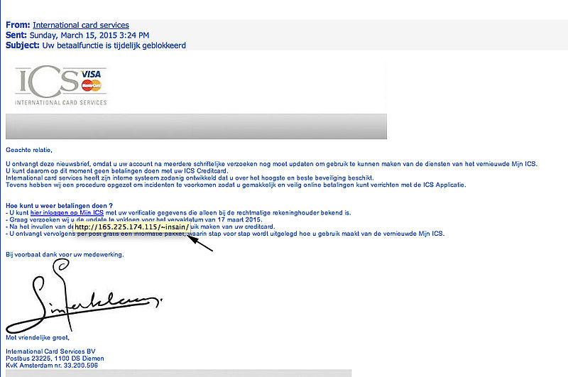 Veel verschillende valse mails ICS in omloop