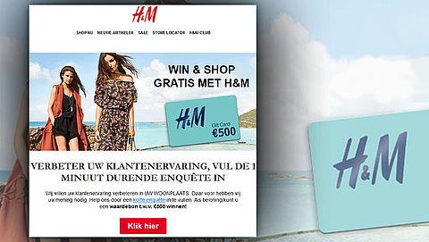 Pas op voor valse winactie uit naam van H&M