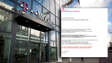 Vals bericht T-Mobile over betaling