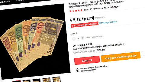 Scholier koopt vals geld via AliExpress en betaalt ermee