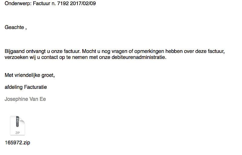 Veel klachten over e-mail factuur