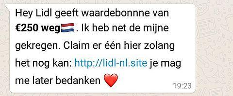 Lidl waarschuwt voor nepactie op WhatsApp