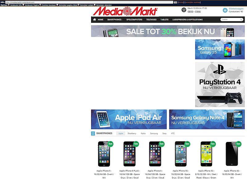 'Mediamarkt-nederland.com misbruikt logo Mediamarkt'