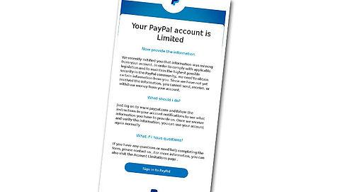 Valse mail over bijwerken PayPal-account
