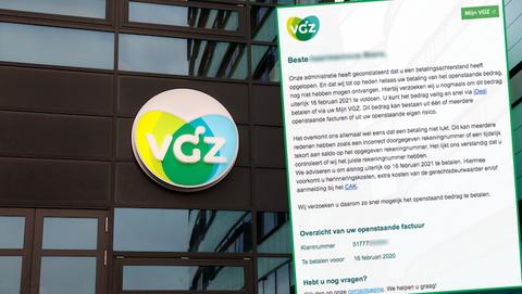 Valse mail met spookfactuur van 'VGZ' is overtuigende oplichting: 'Betaal uw openstaande factuur direct!'
