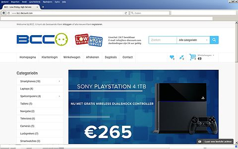 'www.bcc-discount.com misbruikt naam echt bedrijf'