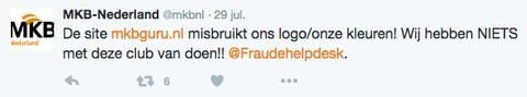 MKBGuru.nl misbruikt logo MKB-Nederland