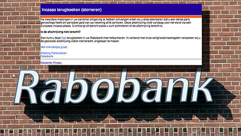 E-mail 'Rabobank' over periodieke afschrijving is phishing