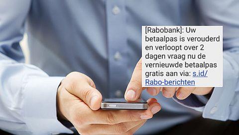 Vals sms'je van 'Rabobank' over nieuwe betaalpas