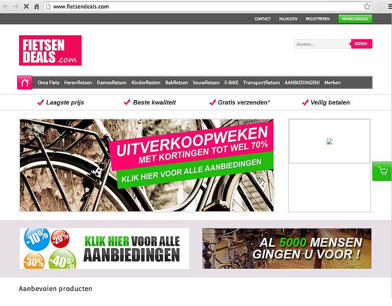 'Fietsendeals.com misbruikt logo Webshop Keurmerk'