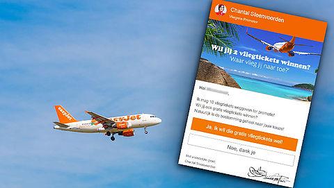 Winactie 'easyJet' over vliegtickets is vals
