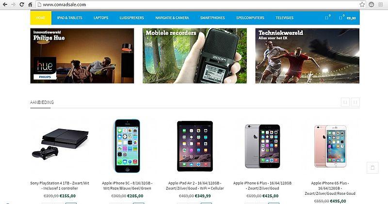 'Trap niet in conradsale.com'