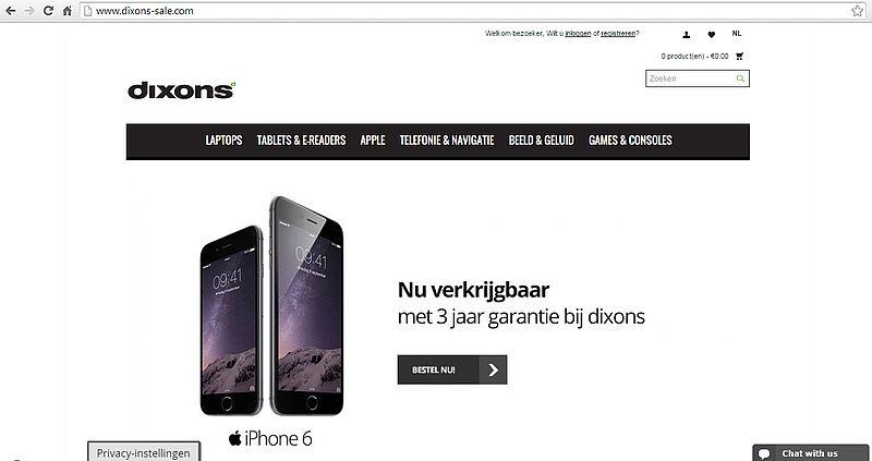 'Dixons-sale.com is malafide
