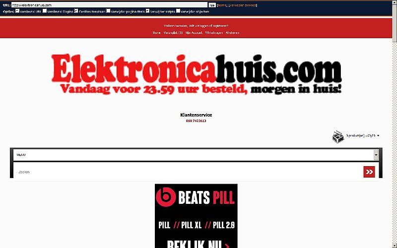 'Elektronicahuis.com te goedkoop'