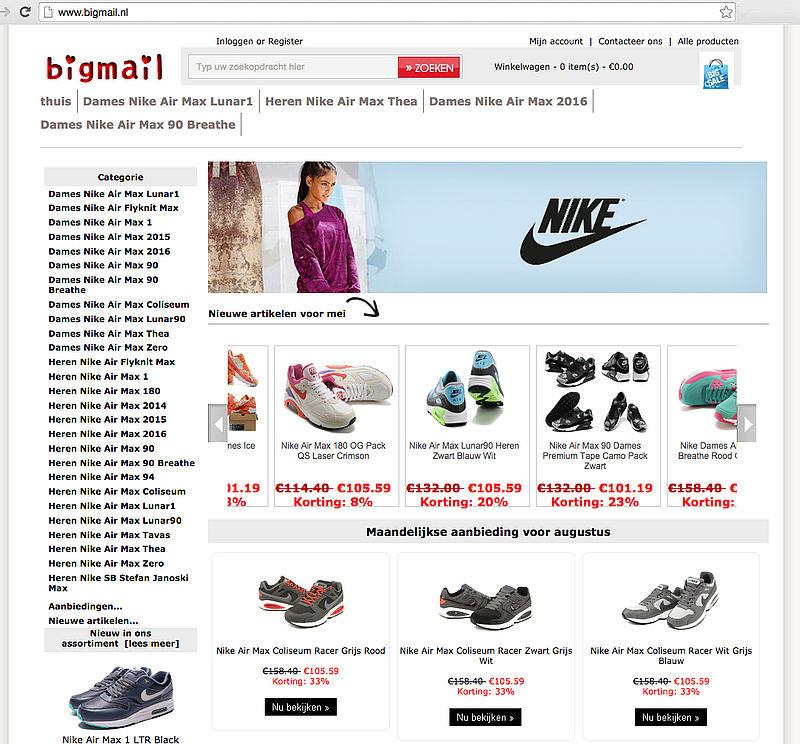 'Bigmail.nl misbruikt logo Thuiswinkel.org'