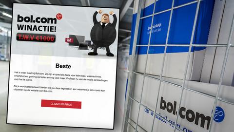 Een Bol.com-cadeaukaart t.w.v. € 1000 winnen via een winactie van 'Happy Box', kan dat wel?