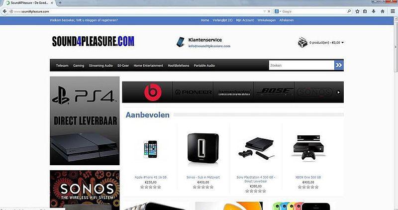 'Sound4pleasure.com adverteert via gehackte Marktplaatsaccounts'