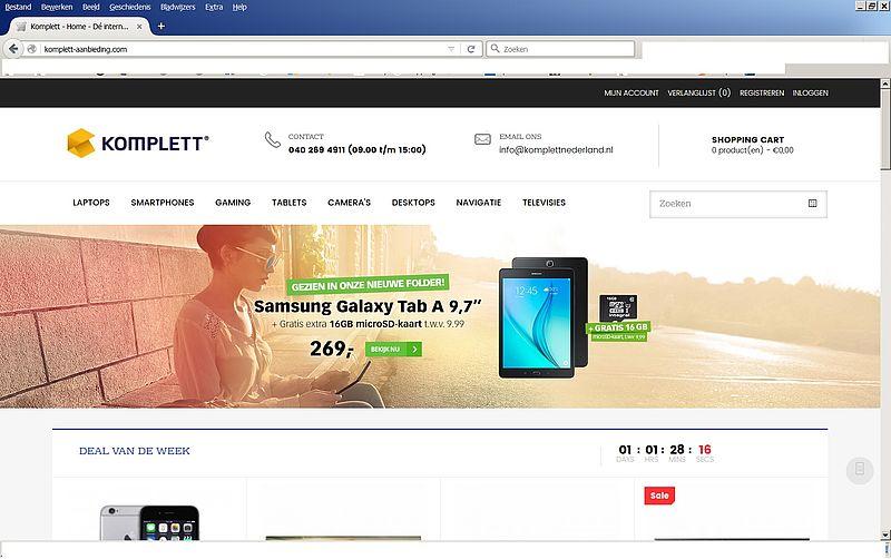 'Pas op voor www.komplett-aanbieding.com'