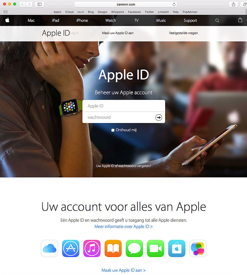 Nepmail over vergrendeld account 'Apple'