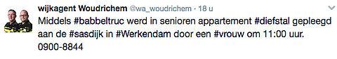 Politie waarschuwt voor babbeltruc Werkendam
