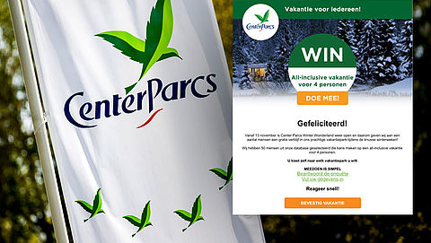 Valse winactie Center Parcs: 'gratis winterverblijf'