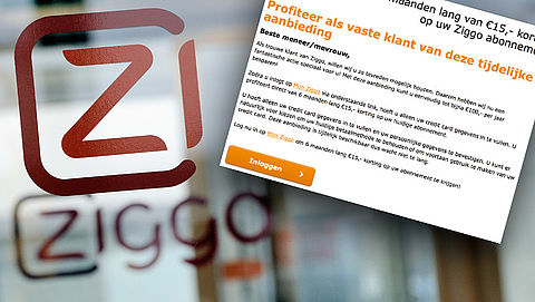 E-mail 'Ziggo' over aanbieding is phishing