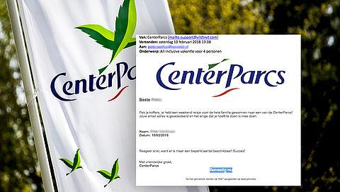 Mail over gewonnen weekend 'Center Parcs' is misleiding