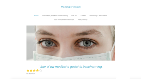 Politie: 'Grote vermoedens van fraude door medical-mask.nl'