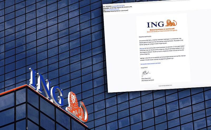 Pas op voor realistische valse e-mail 'ING'