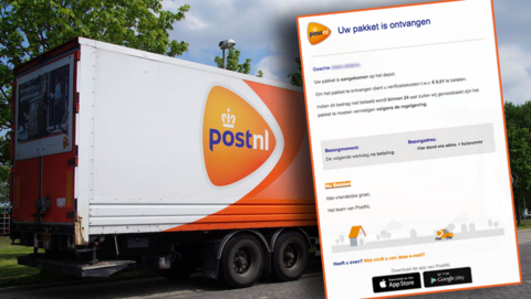 Phishingmail 'PostNL' leidt naar levensechte nepsite : 'Uw pakket is aangekomen op het depot, betaal verificatiekosten'