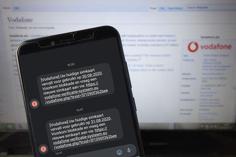 Valse sms namens Vodafone: 'Uw huidige simkaart vervalt voor gebruik'
