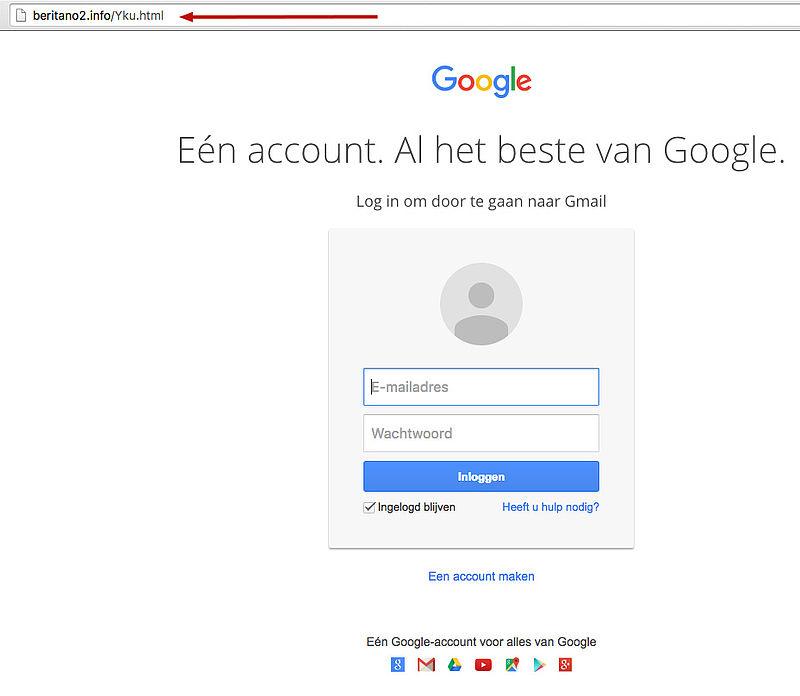 Bericht over volle mailbox is phishingmail!