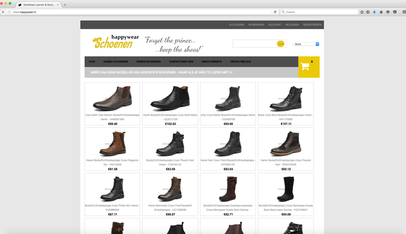Happywear.nl misbruikt logo Thuiswinkel.org