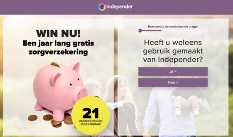 Valse winactie 'Independer' over gratis zorgverzekering