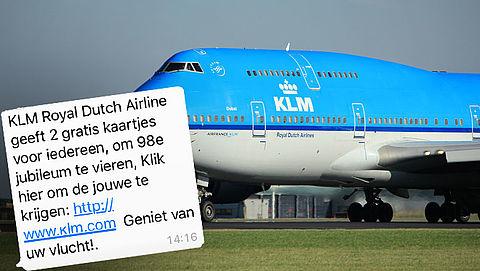 Pas op voor valse winactie 'KLM' via WhatsApp