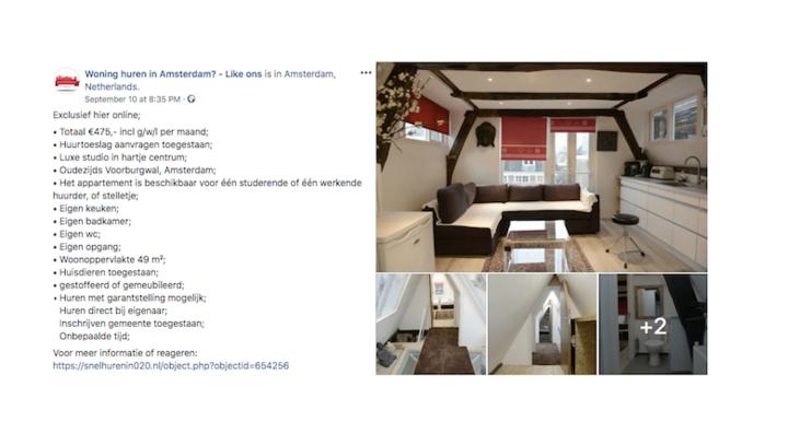 Heb jij ervaring met de Facebookpagina 'Woning huren in Amsterdam? Like ons'?