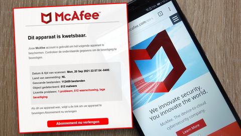E-mails van 'McAfee' over verlopen licenties: wat zit erachter en is het oplichting?