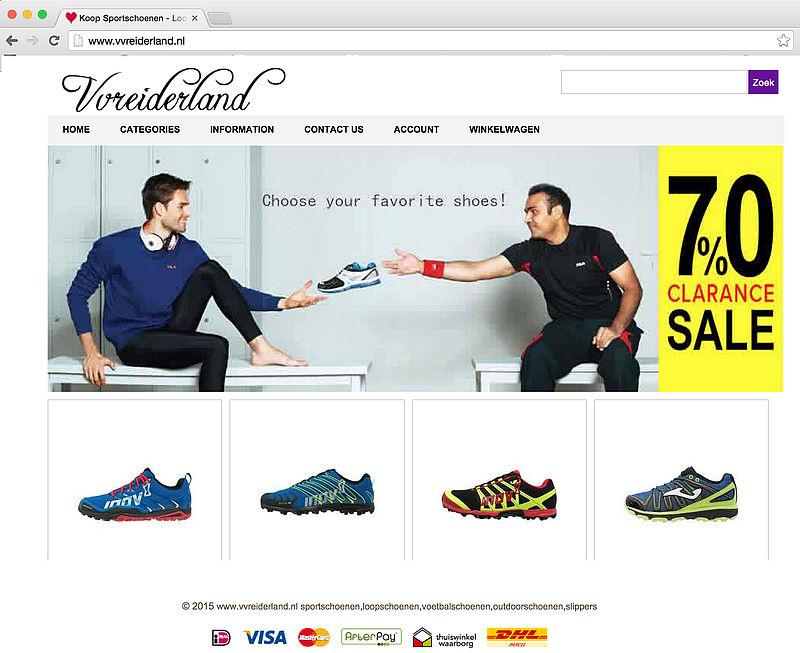 Webshop vvreiderland.nl voert logo Thuiswinkel.org ten onrechte