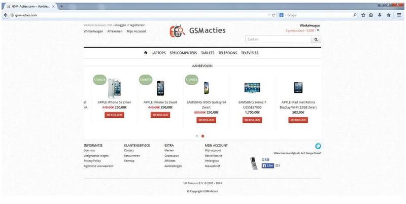 'Gsm-acties.com adverteert via gehackte Marktplaatsaccounts'