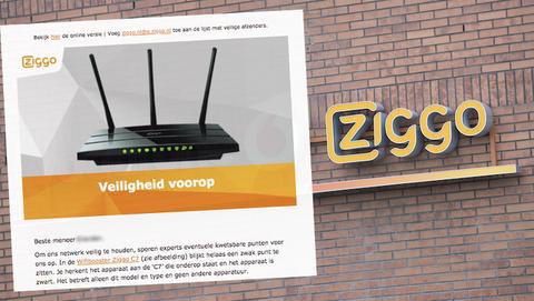 Mail van Ziggo over wachtwoord wijzigen voor Wifibooster C7 is betrouwbaar