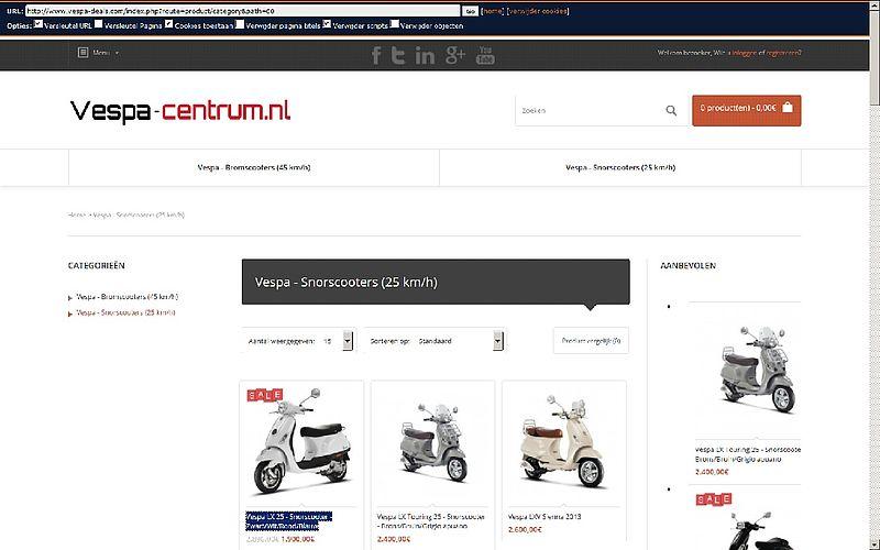 'Vespa-deals.com te goedkoop'